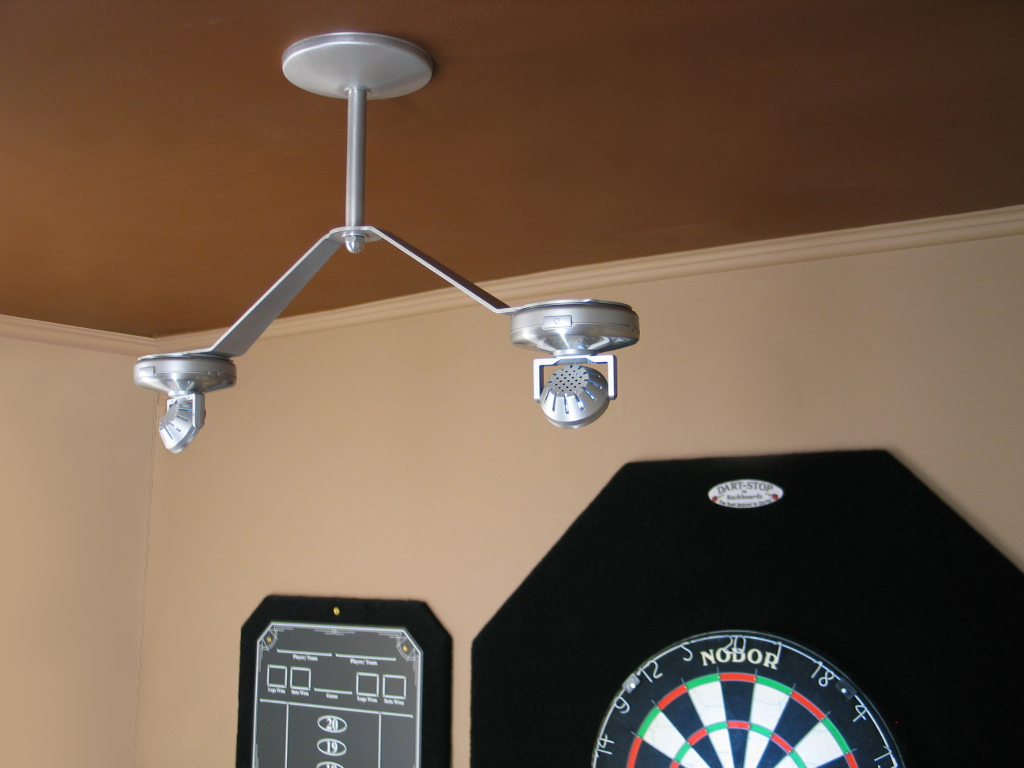 Cordless LED Dartboard Light, Ceiling-Mounted